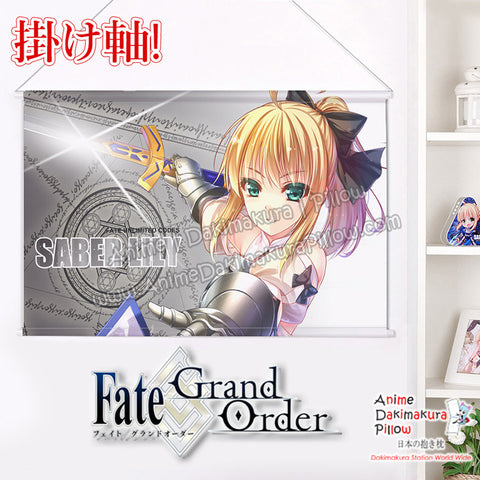 New Fate grand Order - Saber Lily Japanese Anime Wall Scroll Poster and Banner H0353 - Anime Dakimakura Pillow Shop | Fast, Free Shipping, Dakimakura Pillow & Cover shop, pillow For sale, Dakimakura Japan Store, Buy Custom Hugging Pillow Cover - 1