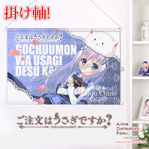 New Is the Order a Rabbit - Chino Kafu Japanese Anime Wall Scroll Poster and Banner H0355 - Anime Dakimakura Pillow Shop | Fast, Free Shipping, Dakimakura Pillow & Cover shop, pillow For sale, Dakimakura Japan Store, Buy Custom Hugging Pillow Cover - 1