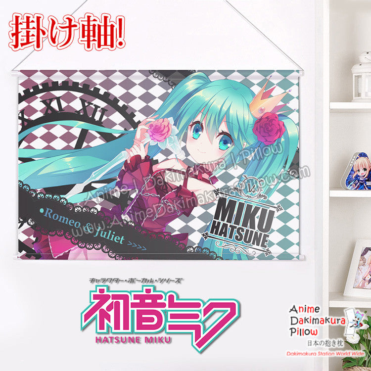 New Miku Hatsune Romeo and Juliet Japanese Anime Wall Scroll Poster and Banner H0356