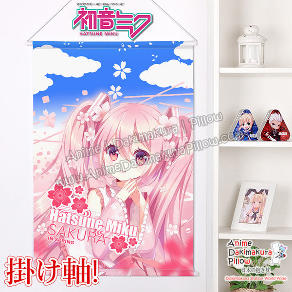 New Miku Hatsune Sakura Japanese Anime Wall Scroll Poster and Banner H0362 - Anime Dakimakura Pillow Shop | Fast, Free Shipping, Dakimakura Pillow & Cover shop, pillow For sale, Dakimakura Japan Store, Buy Custom Hugging Pillow Cover - 1