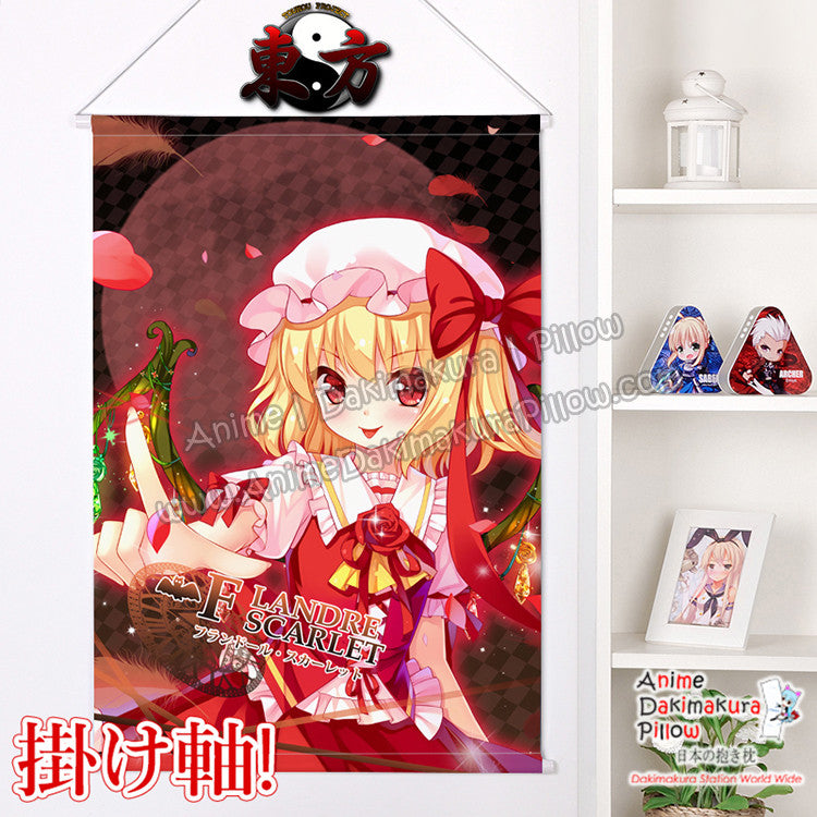 New Touhou Project - Flandre Scarlet Japanese Anime Wall Scroll Poster and Banner H0365