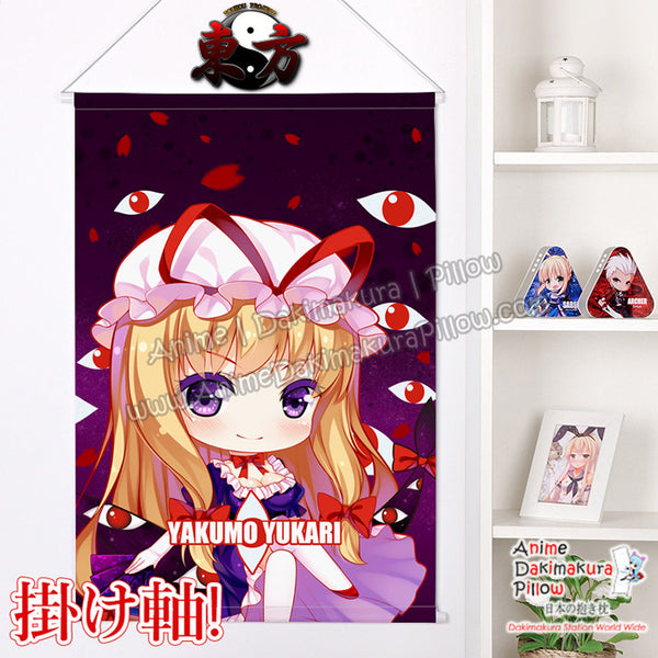 New Touhou Project - Yakumo Yukari Chibi Japanese Anime Wall Scroll Poster and Banner H0369 - Anime Dakimakura Pillow Shop | Fast, Free Shipping, Dakimakura Pillow & Cover shop, pillow For sale, Dakimakura Japan Store, Buy Custom Hugging Pillow Cover - 1