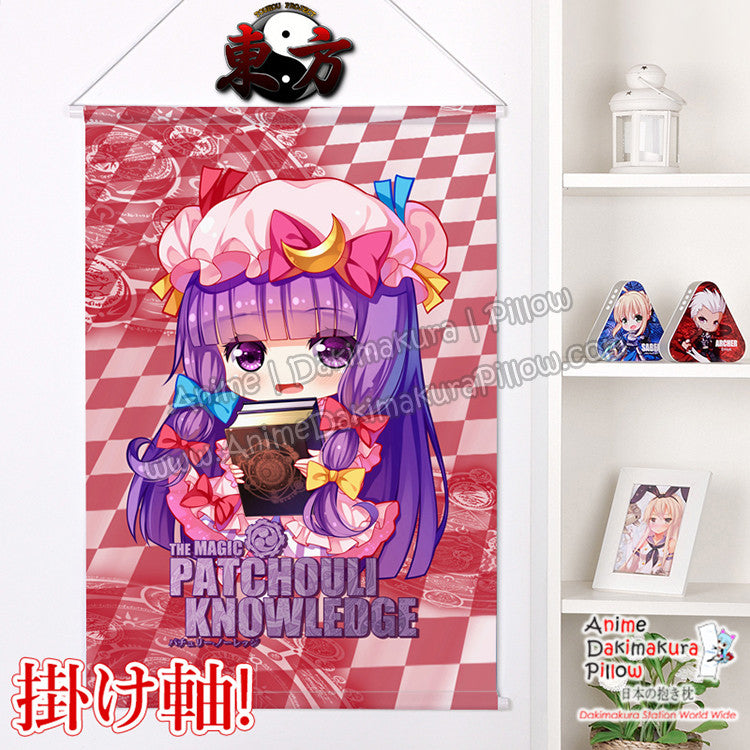 New Touhou Project - Patchouli Knowledge Chibi Japanese Anime Wall Scroll Poster and Banner H0371