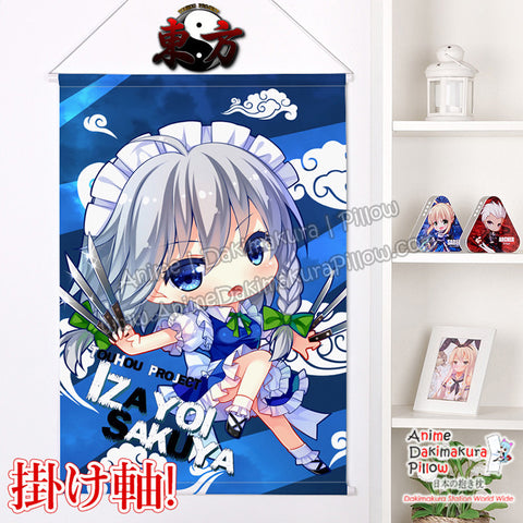 New Touhou Project - Izayoi Sakuya Chibi Japanese Anime Wall Scroll Poster and Banner H0372 - Anime Dakimakura Pillow Shop | Fast, Free Shipping, Dakimakura Pillow & Cover shop, pillow For sale, Dakimakura Japan Store, Buy Custom Hugging Pillow Cover - 1