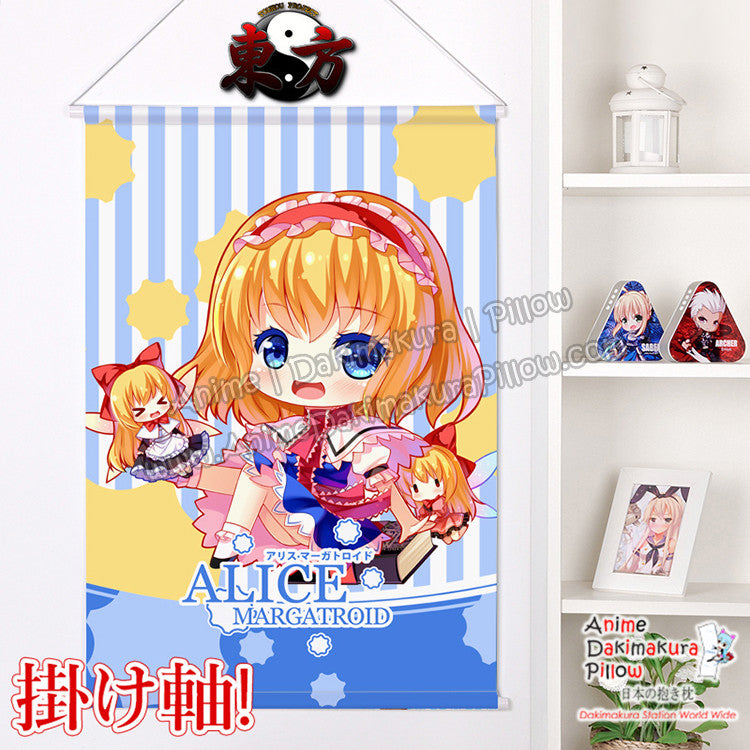 New Touhou Project -Alice Margatroid Chibi Japanese Anime Wall Scroll Poster and Banner H0373