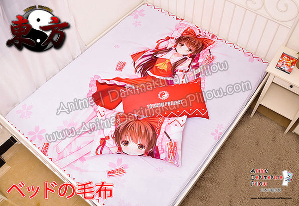 New Hakurei Reimu - Touhou Project Japanese Anime Bed Blanket or Duvet Cover with Pillow Covers  H0385