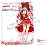 New Hakurei Reimu - Touhou Project Japanese Anime Bed Blanket or Duvet Cover with Pillow Covers  H0385 - Anime Dakimakura Pillow Shop | Fast, Free Shipping, Dakimakura Pillow & Cover shop, pillow For sale, Dakimakura Japan Store, Buy Custom Hugging Pillow Cover - 2