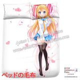New Chitoge - Nisekoi Japanese Anime Bed Blanket or Duvet Cover with Pillow Covers H0387 - Anime Dakimakura Pillow Shop | Fast, Free Shipping, Dakimakura Pillow & Cover shop, pillow For sale, Dakimakura Japan Store, Buy Custom Hugging Pillow Cover - 2