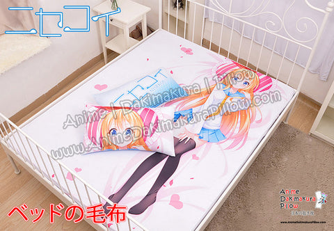 New Chitoge - Nisekoi Japanese Anime Bed Blanket or Duvet Cover with Pillow Covers H0387 - Anime Dakimakura Pillow Shop | Fast, Free Shipping, Dakimakura Pillow & Cover shop, pillow For sale, Dakimakura Japan Store, Buy Custom Hugging Pillow Cover - 1