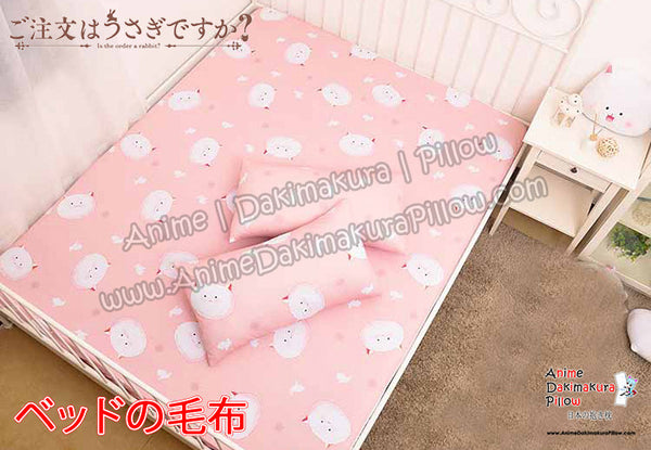 New Tippy - Is The Order  A Rabbit Japanese Anime Bed Blanket or Duvet Cover with Pillow Covers  H0395 - Anime Dakimakura Pillow Shop | Fast, Free Shipping, Dakimakura Pillow & Cover shop, pillow For sale, Dakimakura Japan Store, Buy Custom Hugging Pillow Cover - 1