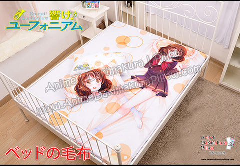 New Kumiko Oumae - Sound euphonium Japanese Anime Bed Blanket or Duvet Cover with Pillow Covers H0397 - Anime Dakimakura Pillow Shop | Fast, Free Shipping, Dakimakura Pillow & Cover shop, pillow For sale, Dakimakura Japan Store, Buy Custom Hugging Pillow Cover - 1