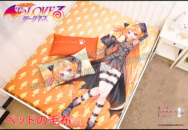 New Konjiki No Yami - To Love-Ru Japanese Anime Bed Blanket or Duvet Cover with Pillow Covers H0399 - Anime Dakimakura Pillow Shop | Fast, Free Shipping, Dakimakura Pillow & Cover shop, pillow For sale, Dakimakura Japan Store, Buy Custom Hugging Pillow Cover - 1
