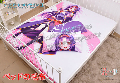 New Konno Yuuki - Sword Art Online Japanese Anime Bed Blanket or Duvet Cover with Pillow Covers H0407 - Anime Dakimakura Pillow Shop | Fast, Free Shipping, Dakimakura Pillow & Cover shop, pillow For sale, Dakimakura Japan Store, Buy Custom Hugging Pillow Cover - 1