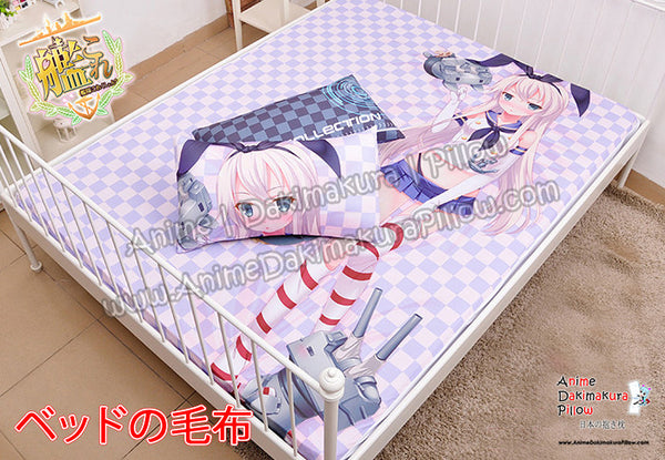 New Shimakaze - Kantai Collection Japanese Anime Bed Blanket or Duvet Cover with Pillow Covers H0408 - Anime Dakimakura Pillow Shop | Fast, Free Shipping, Dakimakura Pillow & Cover shop, pillow For sale, Dakimakura Japan Store, Buy Custom Hugging Pillow Cover - 1