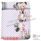 New Shimakaze - Kantai Collection Japanese Anime Bed Blanket or Duvet Cover with Pillow Covers H0408 - Anime Dakimakura Pillow Shop | Fast, Free Shipping, Dakimakura Pillow & Cover shop, pillow For sale, Dakimakura Japan Store, Buy Custom Hugging Pillow Cover - 2