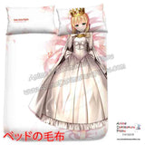 New White Lily- Fate  Stay Night Japanese Anime Bed Blanket or Duvet Cover with Pillow Covers H0415 - Anime Dakimakura Pillow Shop | Fast, Free Shipping, Dakimakura Pillow & Cover shop, pillow For sale, Dakimakura Japan Store, Buy Custom Hugging Pillow Cover - 2
