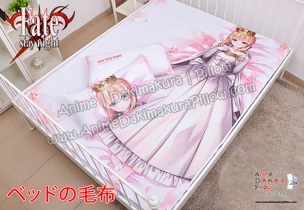 New White Lily- Fate  Stay Night Japanese Anime Bed Blanket or Duvet Cover with Pillow Covers H0415 - Anime Dakimakura Pillow Shop | Fast, Free Shipping, Dakimakura Pillow & Cover shop, pillow For sale, Dakimakura Japan Store, Buy Custom Hugging Pillow Cover - 1