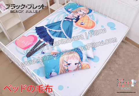 New Tina Sprout - Black Bullet Japanese Anime Bed Blanket or Duvet Cover with Pillow Covers  H0420 - Anime Dakimakura Pillow Shop | Fast, Free Shipping, Dakimakura Pillow & Cover shop, pillow For sale, Dakimakura Japan Store, Buy Custom Hugging Pillow Cover - 1