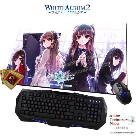 New White Album 2 Anime Gaming Mouse Pad Deluxe Multipurpose Playmat H0430 - Anime Dakimakura Pillow Shop | Fast, Free Shipping, Dakimakura Pillow & Cover shop, pillow For sale, Dakimakura Japan Store, Buy Custom Hugging Pillow Cover - 1
