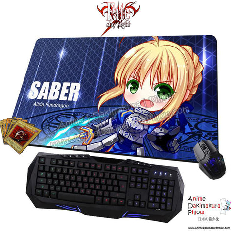 New Saber Altria Pendragon - Fate Stay Night Anime Gaming Mouse Pad Deluxe Multipurpose Playmat H0431 - Anime Dakimakura Pillow Shop | Fast, Free Shipping, Dakimakura Pillow & Cover shop, pillow For sale, Dakimakura Japan Store, Buy Custom Hugging Pillow Cover - 1