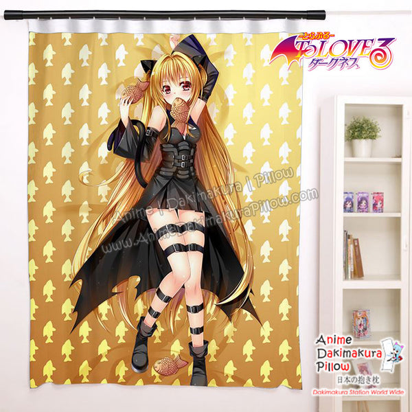 New Konjiki No yami - To Love Ru Anime Japanese Window Curtain Door Entrance Room Partition H0459 - Anime Dakimakura Pillow Shop | Fast, Free Shipping, Dakimakura Pillow & Cover shop, pillow For sale, Dakimakura Japan Store, Buy Custom Hugging Pillow Cover - 1