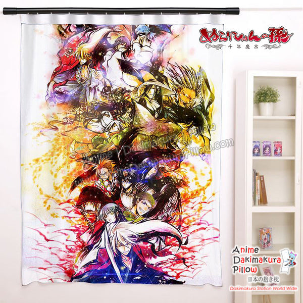 New Nura Rise of the Yokai Clan Anime Japanese Window Curtain Door Entrance Room Partition H0461 - Anime Dakimakura Pillow Shop | Fast, Free Shipping, Dakimakura Pillow & Cover shop, pillow For sale, Dakimakura Japan Store, Buy Custom Hugging Pillow Cover - 1