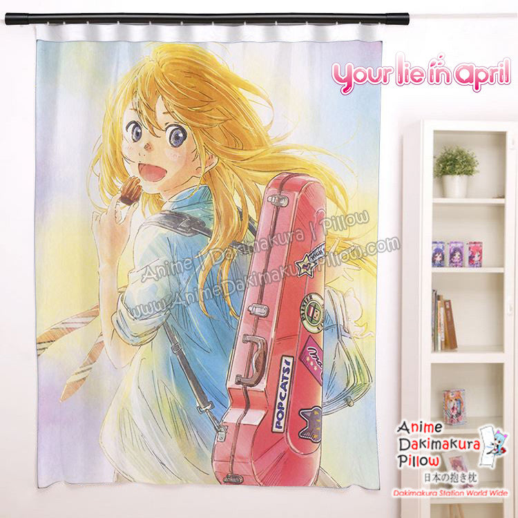 New Kaori Miyazono - Your Lie in April Anime Japanese Window Curtain Door Entrance Room Partition H0466
