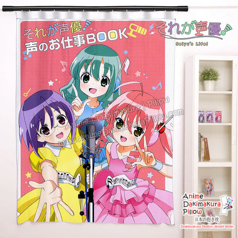 New Futaba Ichinose, Rin Kohana , and Ichigo Moesaki - Seiyu's life Anime Japanese Window Curtain Door Entrance Room Partition H0469 - Anime Dakimakura Pillow Shop | Fast, Free Shipping, Dakimakura Pillow & Cover shop, pillow For sale, Dakimakura Japan Store, Buy Custom Hugging Pillow Cover - 1