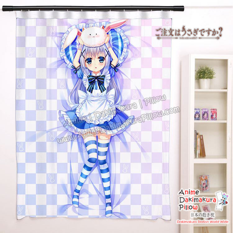 New Chino - Is the Order A Rabbit Anime Japanese Window Curtain Door Entrance Room Partition H0487