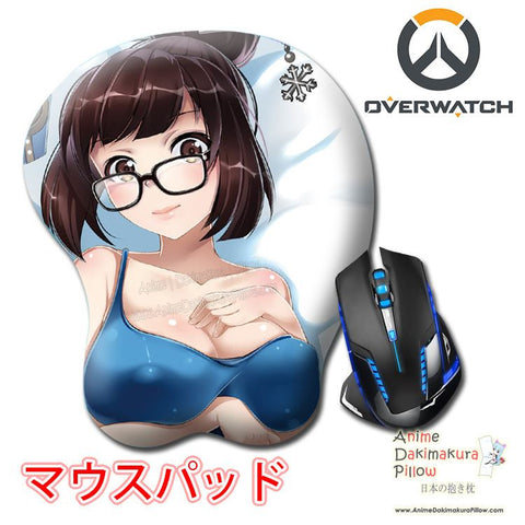 New Mei - Overwatch Anime Ergonomic 3D Mouse Pad Sexy Butt Wrist Rest Oppai H0522 - Anime Dakimakura Pillow Shop | Fast, Free Shipping, Dakimakura Pillow & Cover shop, pillow For sale, Dakimakura Japan Store, Buy Custom Hugging Pillow Cover - 1