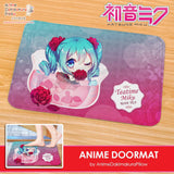 New Hatsune Miku - Vocaloid Anime Plush Carpet Doormat Home Decor Non-slip Bath Floor Mat H110004