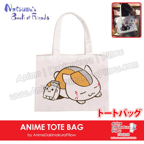 New-Madara-Natsume-Book-of-Friends-Anime-Natural-Canvas-Reusable-Environmental-Heavy-Duty-Shopping-Tote-Bag-H150014