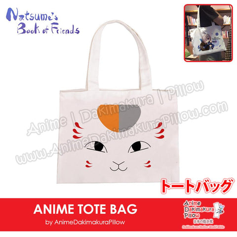 New-Madara-Natsume-Book-of-Friends-Anime-Natural-Canvas-Reusable-Environmental-Heavy-Duty-Shopping-Tote-Bag-H150015