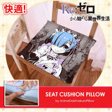 New Rem - Re Zero Japanese Anime Seat Cushion Pillow Natural Velvet Chair Memory Foam Pillow H180028