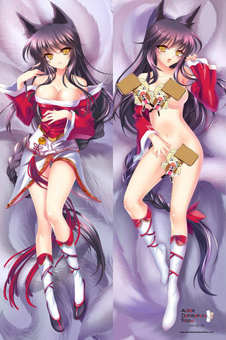 New League of Legends Ahri Anime Dakimakura Japanese Pillow Cover LOL3 - Anime Dakimakura Pillow Shop | Fast, Free Shipping, Dakimakura Pillow & Cover shop, pillow For sale, Dakimakura Japan Store, Buy Custom Hugging Pillow Cover - 1