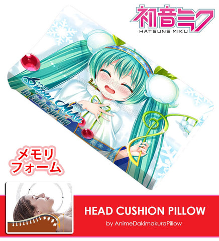 New Miku Hatsune - Vocaloid Japanese Anime Head Cushion Pillow Deluxe Memory Soft Head Foam H190024