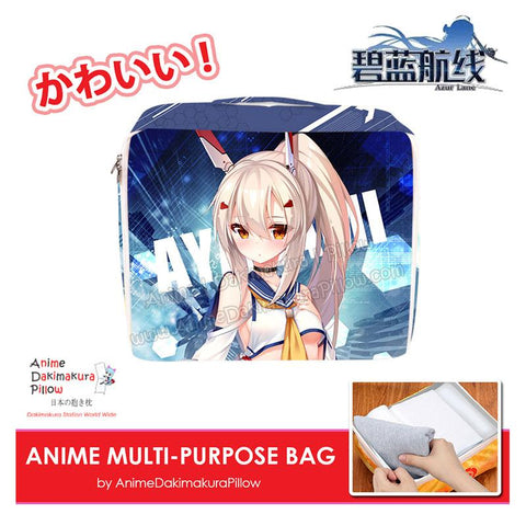 ADP Ayanami - Azur Lane Anime Multi-Purpose Bag Medium Size Travel Pouch Storage Accessories Make-up Organizer H200015