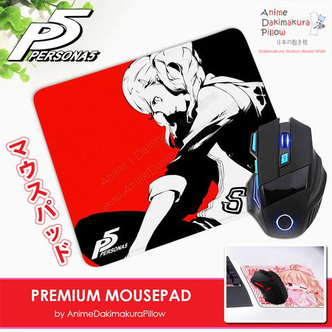 ADP Ann Takamaki Panther - Persona 5 Anime Premium Mousepad Standard Size Stitched Edge Mouse Pad Non-Slip Professional Gaming Desk Pad H210008