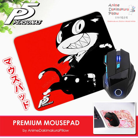 ADP Morgana Mona - Persona 5 Anime Premium Mousepad Standard Size Stitched Edge Mouse Pad Non-Slip Professional Gaming Desk Pad H210010