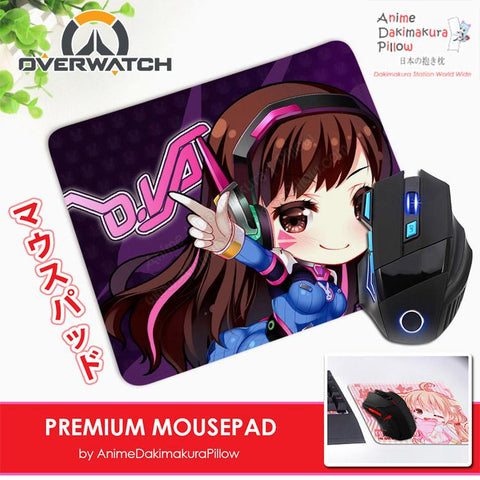 ADP Dva - Overwatch Anime Premium Mousepad Standard Size Stitched Edge Mouse Pad Non-Slip Professional Gaming Desk Pad H210013