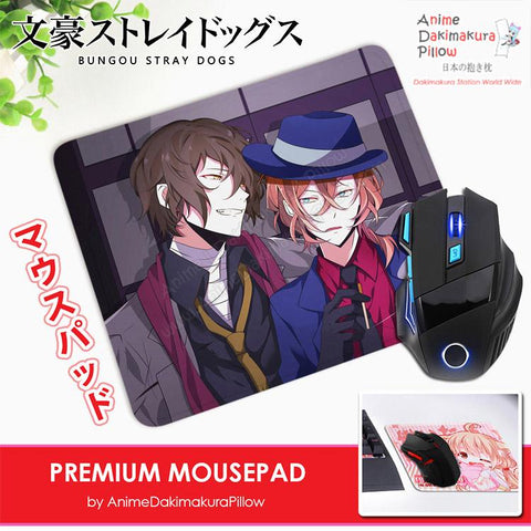 ADP Chuuya and Dazai - Bungou Stray Dogs Anime Premium Mousepad Standard Size Stitched Edge Mouse Pad Non-Slip Professional Gaming Desk Pad H210030