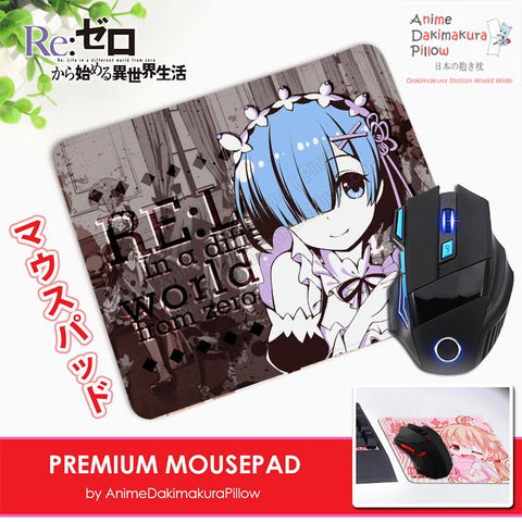 ADP Rem - Re Zero Anime Premium Mousepad Standard Size Stitched Edge Mouse Pad Non-Slip Professional Gaming Desk Pad H210046