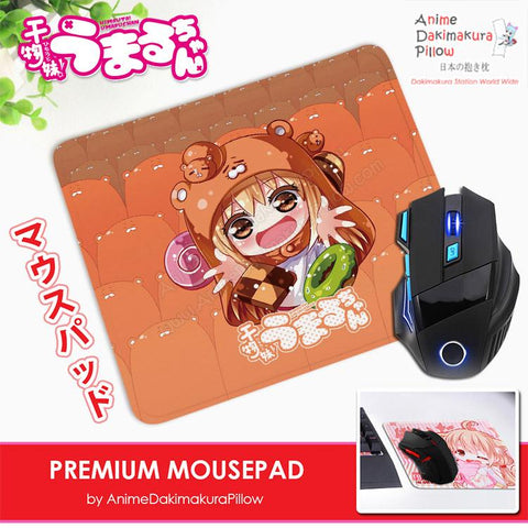 ADP Umaru Doma - Himouto Umaru-chan Anime Premium Mousepad Standard Size Stitched Edge Mouse Pad Non-Slip Professional Gaming Desk Pad H210055