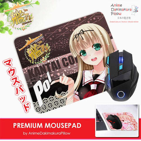 ADP Yuudachi - Kantai Collection Anime Premium Mousepad Standard Size Stitched Edge Mouse Pad Non-Slip Professional Gaming Desk Pad H210057
