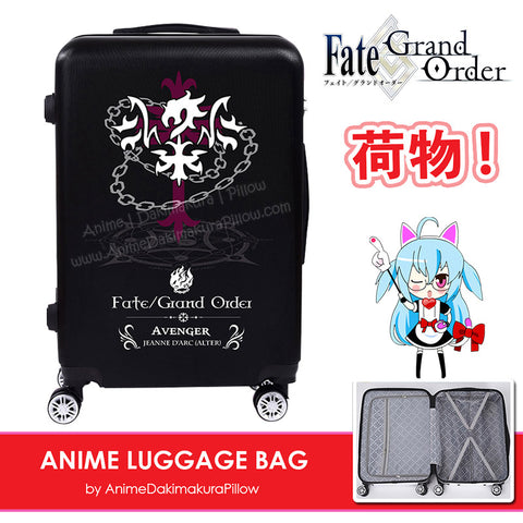 ADP Fate Grand Order Anime Printed Luggage Travel Bag 360° Wheels Trolley Hard Case with Built-in Lock H250004