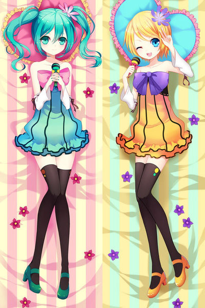 New Vocaloid Hatsune Miku & Rin Anime Dakimakura Japanese Pillow Cover V1