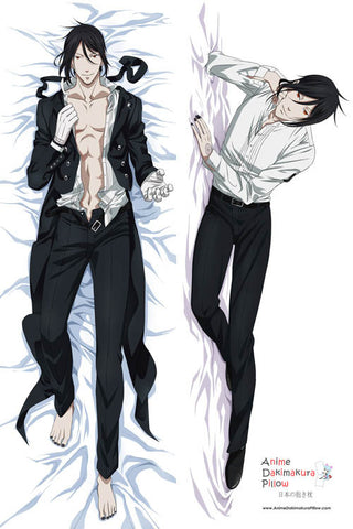 New Black Butler Anime Dakimakura Japanese Pillow Cover H2767 - Anime Dakimakura Pillow Shop | Fast, Free Shipping, Dakimakura Pillow & Cover shop, pillow For sale, Dakimakura Japan Store, Buy Custom Hugging Pillow Cover - 1