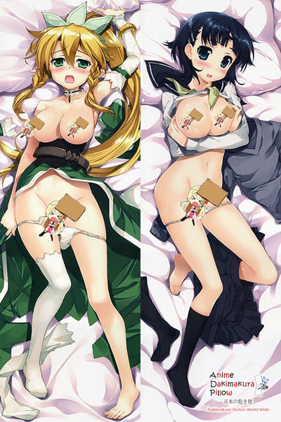 New Sword Art Online Leafa - Kirigaya Suguha Anime Dakimakura Japanese Pillow Cover H2870 - Anime Dakimakura Pillow Shop | Fast, Free Shipping, Dakimakura Pillow & Cover shop, pillow For sale, Dakimakura Japan Store, Buy Custom Hugging Pillow Cover - 1