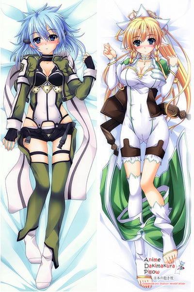New Sword Art Online Asada Shinon + Sword Art Online Alice Schuberg Shinon Anime Anime Dakimakura Japanese Pillow Cover H2872 + H2871 - Anime Dakimakura Pillow Shop | Fast, Free Shipping, Dakimakura Pillow & Cover shop, pillow For sale, Dakimakura Japan Store, Buy Custom Hugging Pillow Cover - 1