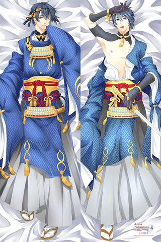 New Touken Ranbu Mikazuki Munechika Anime Male Dakimakura Japanese Pillow Cover H2885 - Anime Dakimakura Pillow Shop | Fast, Free Shipping, Dakimakura Pillow & Cover shop, pillow For sale, Dakimakura Japan Store, Buy Custom Hugging Pillow Cover - 1